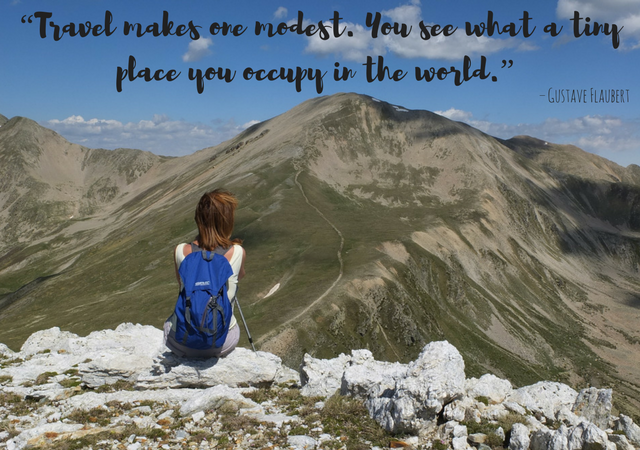 """Travel makes one modest. You see what a tiny place you occupy in the world."""" one of the best Inspirational travel quotes of all time"""